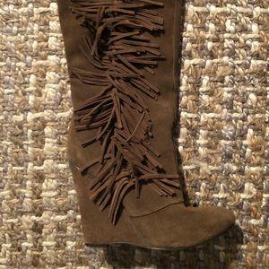 Nine West fringe boots